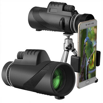 Monocular Telescope 40x60 High Power BAK4 Prism Waterproof with Tripod Camera TR