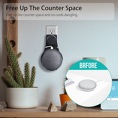 1PCS Outlet Wall Mount Compact Hanger Holder Stand Grip for Google Home Mini F1