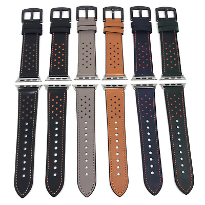 Dotted Design Genuine Leather Apple Watch Band
