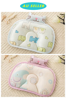 Infant Baby Sleeping Summer Icy Silky Prevent Flat Head Cushion Anti Roll Pillow