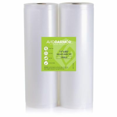 11x50 Vacuum Sealer Bags Roll. 2 Pack for Food Saver, Seal a Meal Vac Sealers...