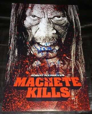 "DANNY TREJO & ROBERT RODRIGUEZ Authentic Hand-Signed ""MACHETE KILLS"" 11x17 Photo"