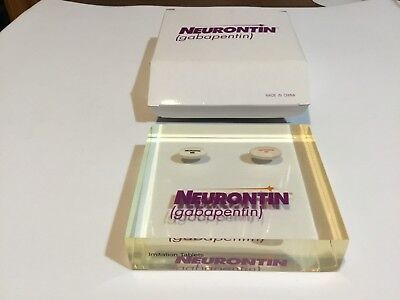 Rare Neurontin Heavy Lucite Paperweight Drug Rep Promo