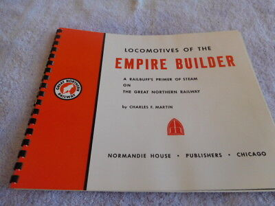 """Railroad - Great Northern - """"locomotives Of The Empire Builder"""" Brochure - 1972"""