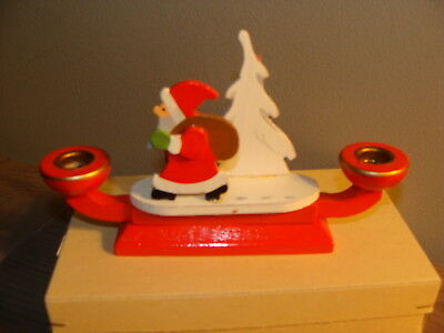 Germany Wood Santa Candleholder in box Dregeno