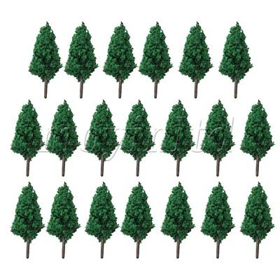 20 x Green Model Trees DIY Train Street Railway Scenery Layout Landscape