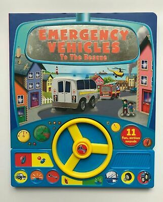 Emergency Vehicle To The Rescue Sound Book With 11 Fun Action Ages 0 Months+ New