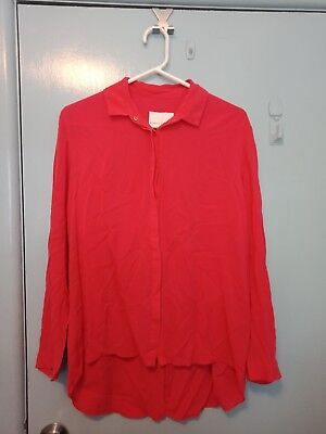 Ginger & Smart red/pink long sleeved shirt in size 12