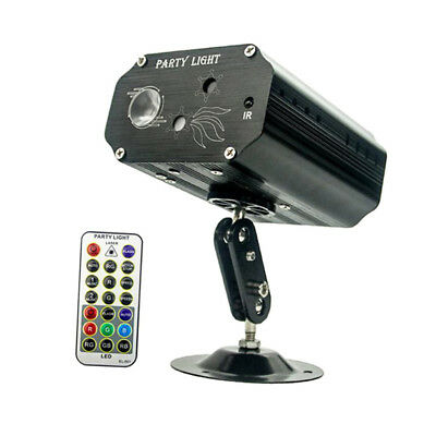 Laser LED Sound-Activated Party Light Strobe RB Beamer w/ Remote Control