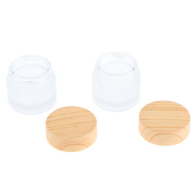 2x small glass jars with screw tops 10g tiny bottles empty pots containers