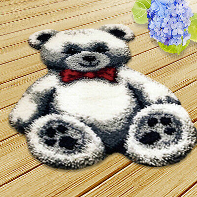 Latch Hook Rug Kit Toy Bear Cushion DIY Craft Needle Cute Embroidery Kits