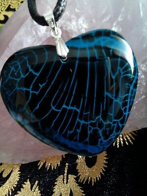 black, blue.  FIRE agate