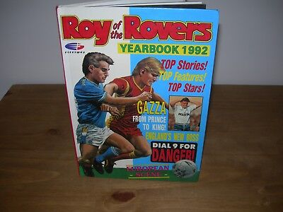 ROY OF THE ROVERS YEARBOOK 1992 - UNCLIPPED.- Good Condition-