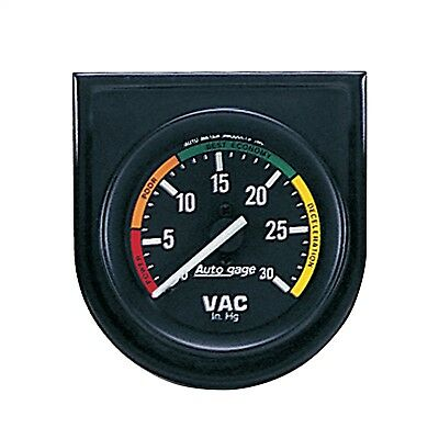 AutoMeter 2337 Autogage Vacuum Gauge Panel with Black Dial Face