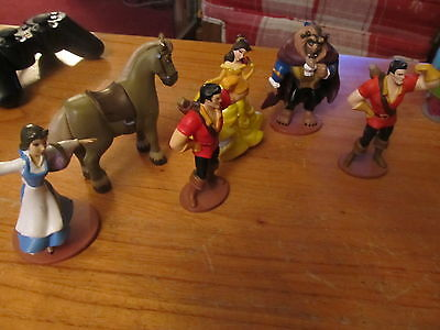 Disney 3 inch PVC Beauty and the Beast lot Gaston Belle more