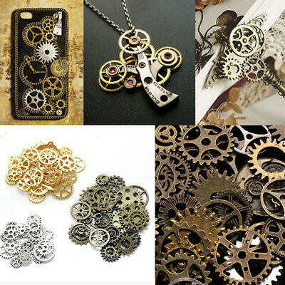 50g Cogs Gears Watch Parts Steampunk Altered Art Crafts DIY Jewelry Findings Hot