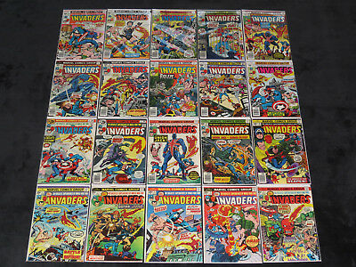Invaders 1 - 41 (Fn) Captain America Submariner Human Torch 1975 Complete Series