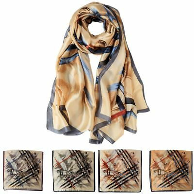 Women Print Scarf Hijabs Peacock Feather Scarves Wraps Shawl Pashmina 180x90cm