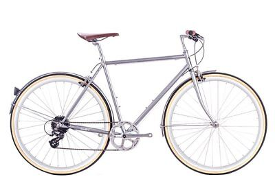 bicicletta city odyssey 8v silver brandford medium 54cm 6KU Fixed Single Speed