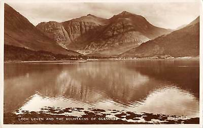 uk14706 loch leven and mountain of glencoe scotland  real photo uk