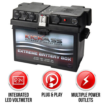 KICKASS 12V Battery Box for Deep Cycle AGM GEL Batteries Dual System