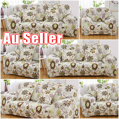 AU Stretch Couch Sofa Lounge Covers Recliner 1 2 3 4 Seater Chair Covers Protect