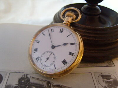 Vintage Pocket Watch British Rail 1960 Swiss 17 Jewel 9Ct Gold Filled Case Fwo