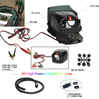 12V High Pressure Electric Air pump Boat Inflatable/ kitesurfing/ SUP Compressor