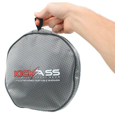 KICKASS Portable Camping Shower Lithium Rechargeable Battery USB Charge