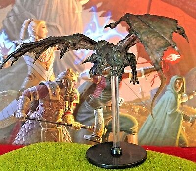 Black Shadow Dragon D&D Miniature Dungeons Dragons pathfinder 30 adult large Z