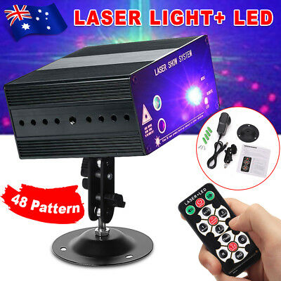 48 Pattern Laser Projector Stage Lights LED RGB Lighting Party DJ Disco KTV BZ