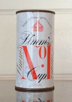 Vintage  Pimm's soft drink can soda pop metal retro Pimm's can CPLWT