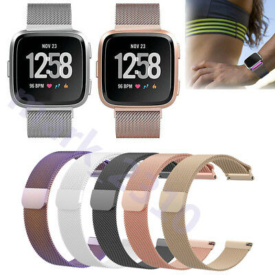 For Fitbit Versa Replacement Metal Milanese Band Strap Watch Bracelet Wristband