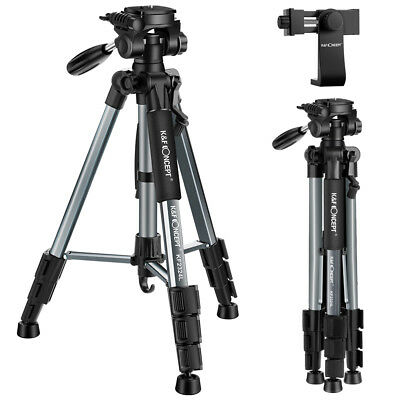 K&F Concept Compact Lightweight Portable Camera Tripod w/ Phone Holder for DSLR