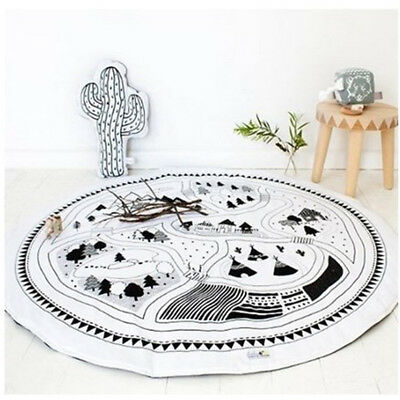 Outdoor baby Kids Cotton Game Gym Activity Play Mat Crawling Blanket Floor Rug