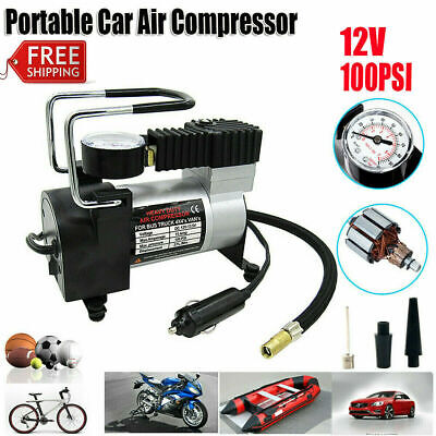 Heavy Duty 12v Car Air Compressor 100PSI Tyre Deflator Portable Inflator Pump FN