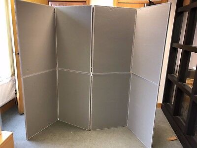 8 Panel Folding Exhibition Display Poster Boards Stand Holder For Trade Shows
