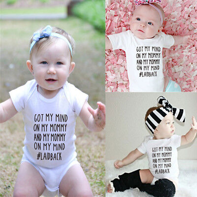 HOT Newborn Baby Infant 100%Cotton Playsuit Romper Short Sleeve Boys Girls Set