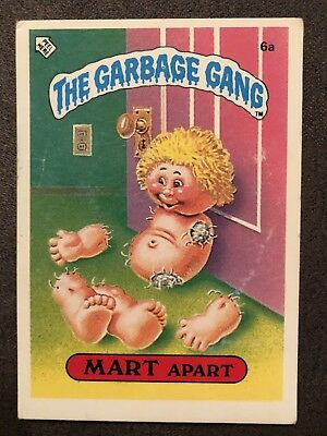 6a  1986 The Garbage Gang Series 1 New Zealand Set Card Pail Kids Rare