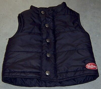 Fred Bare Boys Black Puffer Vest Sz 1