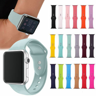 Watch Replacement Silicone Band Strap For Apple Watch Series 1/2/3/4 38/42mm S06