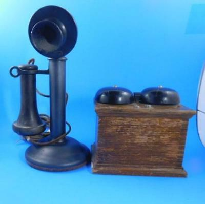 Candle Stick Phone With Ringer Western Electric Antique Vintage