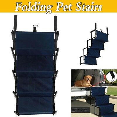 Strong Folding Pet Cat Dog 5 Step Ladder Ramp Stairs Non Slip Tread Outdoor Home