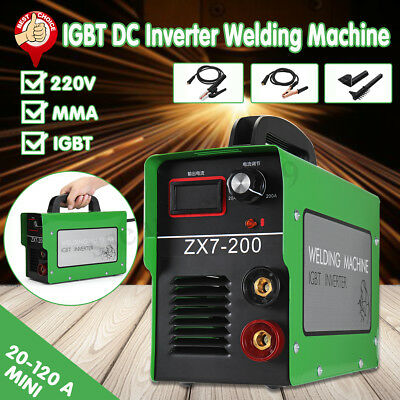 ZX7-200  Portable IGBT DC Inverter Welder MMA/Stick Welding Machine 220V Digital