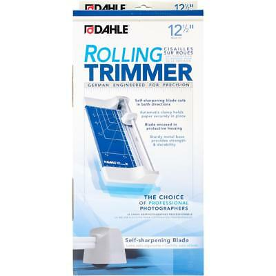 "Dahle 12.5"" Rolling Paper Trimmer 507 Self Sharpening Blade Metal Base"