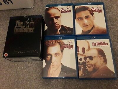 The Godfather Trilogy coppola restore(Blu-ray, 2008, 4-Disc Set, Box-Set) mint