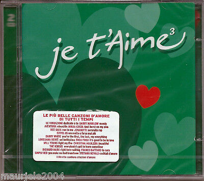 Je T'aime 3* (2004) 2CD NUOVO Aventura, Ten Sharp, Barry Manilow, Vangelis Modjo