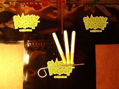 """3 X Ceramic Bat One Hitter Cigarette Style Dugout 3"""" W POKER 3 SMELLY PROOF BAGS"""
