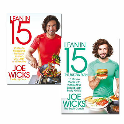 Joe Wicks Lean in 15 Shift and Sustain Plan Collection 2 Books Set Healthy pack