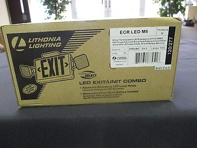 Lithonia Lighting ECR LED M6 New, Open Box Exit/Unit Combo